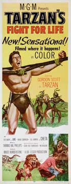 Tarzan's Fight for Life - 14 x 36 Movie Poster - Insert Style A