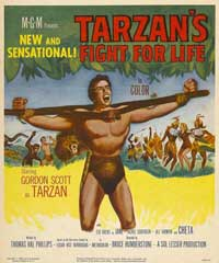 Tarzan's Fight for Life - 11 x 17 Movie Poster - Style B