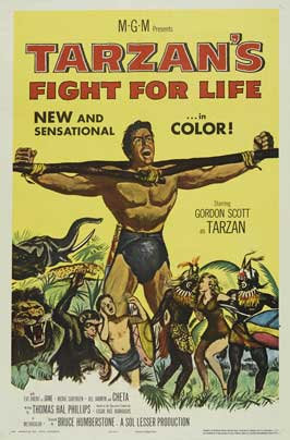 Tarzan's Fight for Life - 27 x 40 Movie Poster - Style B