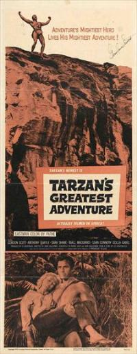 Tarzan's Greatest Adventure - 14 x 36 Movie Poster - Insert Style A