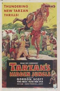 Tarzan's Hidden Jungle - 11 x 17 Movie Poster - Style B