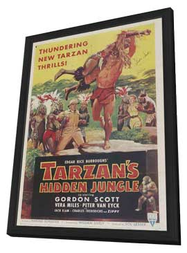 Tarzan's Hidden Jungle - 11 x 17 Movie Poster - Style B - in Deluxe Wood Frame
