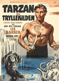 Tarzan's Magic Fountain - 11 x 17 Movie Poster - Danish Style A