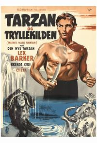 Tarzan's Magic Fountain - 27 x 40 Movie Poster - Danish Style A