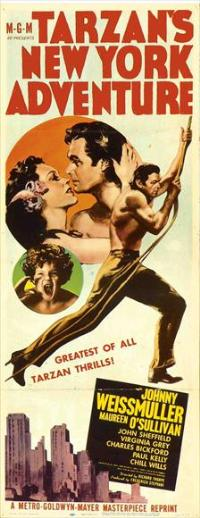 Tarzan's New York Adventure - 14 x 36 Movie Poster - Insert Style B