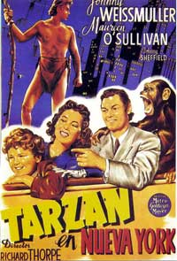 Tarzan's New York Adventure - 11 x 17 Movie Poster - Spanish Style B
