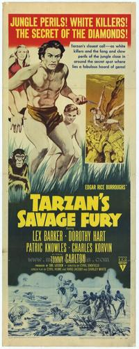 Tarzan's Savage Fury - 14 x 36 Movie Poster - Insert Style A