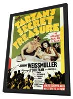 Tarzan's Secret Treasure - 11 x 17 Movie Poster - Style A - in Deluxe Wood Frame
