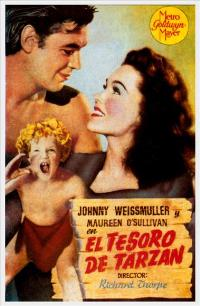 Tarzan's Secret Treasure - 27 x 40 Movie Poster - Spanish Style B