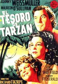 Tarzan's Secret Treasure - 11 x 17 Movie Poster - Spanish Style E