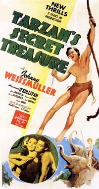 Tarzan's Secret Treasure - 11 x 17 Movie Poster - Style C