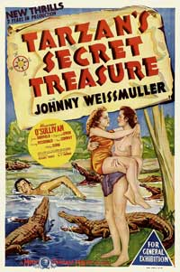 Tarzan's Secret Treasure - 11 x 17 Movie Poster - Style D