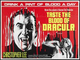 Taste the Blood of Dracula - 27 x 40 Movie Poster - UK Style A