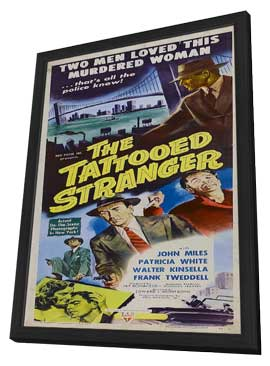 Tattooed Stranger - 11 x 17 Movie Poster - Style A - in Deluxe Wood Frame