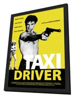Taxi Driver - 27 x 40 Movie Poster - German Style E - in Deluxe Wood Frame