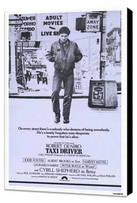 Taxi Driver - 11 x 17 Movie Poster - Style B - Museum Wrapped Canvas