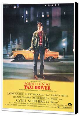 Taxi Driver - 27 x 40 Movie Poster - Style A - Museum Wrapped Canvas