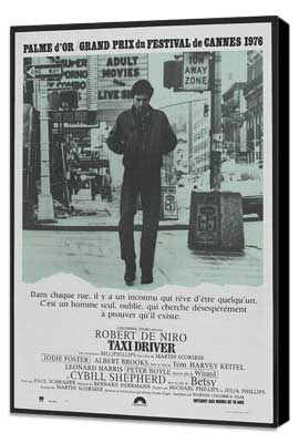 Taxi Driver - 27 x 40 Movie Poster - French Style C - Museum Wrapped Canvas