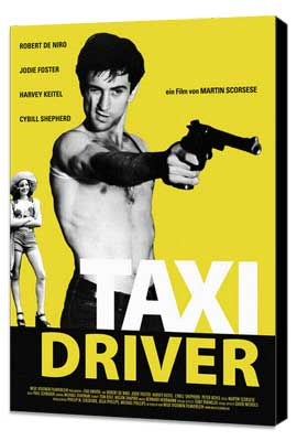 Taxi Driver - 27 x 40 Movie Poster - German Style E - Museum Wrapped Canvas