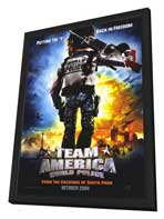 Team America: World Police - 11 x 17 Movie Poster - Style A - in Deluxe Wood Frame