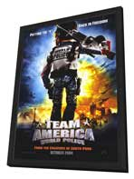 Team America: World Police - 27 x 40 Movie Poster - Style A - in Deluxe Wood Frame