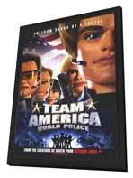 Team America: World Police - 27 x 40 Movie Poster - Style B - in Deluxe Wood Frame