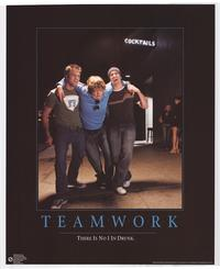 Teamwork - Party/College Poster - 16 x 20 - Style B