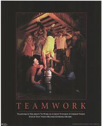 Teamwork - Party/College Poster - 24 x 30 - Style A