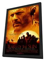 Tears Of The Sun - 27 x 40 Movie Poster - Style A - in Deluxe Wood Frame