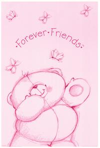 Teddy Bear Friends Forever - Family Poster - 24 x 36 - Style A