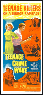 Teen-Age Crime Wave - 13 x 30 Movie Poster - Australian Style A