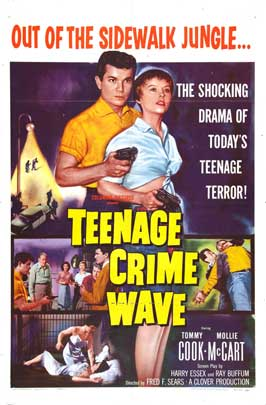 Teen-Age Crime Wave - 11 x 17 Movie Poster - Style A