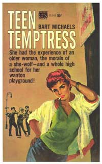 Teen Temptress - 11 x 17 Retro Book Cover Poster