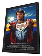 Teen Wolf - 27 x 40 Movie Poster - Style A - in Deluxe Wood Frame