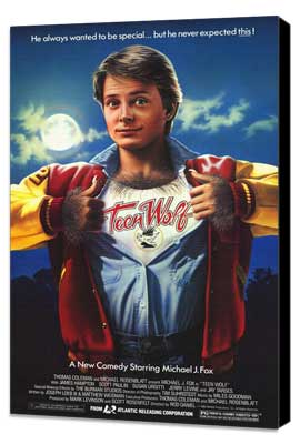 Teen Wolf - 27 x 40 Movie Poster - Style A - Museum Wrapped Canvas