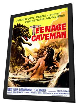 Teenage Caveman - 11 x 17 Movie Poster - Style A - in Deluxe Wood Frame