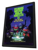 Teenage Mutant Ninja Turtles 2: The Secret of the Ooze - 11 x 17 Movie Poster - Style A - in Deluxe Wood Frame