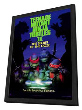Teenage Mutant Ninja Turtles 2: The Secret of the Ooze - 27 x 40 Movie Poster - Style A - in Deluxe Wood Frame