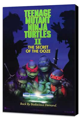 Teenage Mutant Ninja Turtles 2: The Secret of the Ooze - 11 x 17 Movie Poster - Style A - Museum Wrapped Canvas