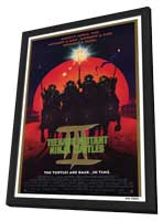 Teenage Mutant Ninja Turtles 3 - 27 x 40 Movie Poster - Style A - in Deluxe Wood Frame