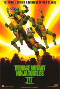 Teenage Mutant Ninja Turtles 3 - 11 x 17 Movie Poster - Belgian Style A
