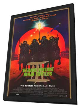Teenage Mutant Ninja Turtles 3 - 11 x 17 Movie Poster - Style B - in Deluxe Wood Frame