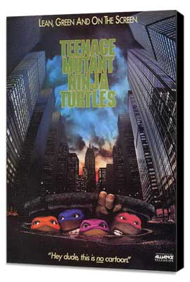 Teenage Mutant Ninja Turtles - 11 x 17 Movie Poster - Style B - Museum Wrapped Canvas