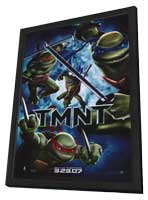 Teenage Mutant Ninja Turtles - 11 x 17 Movie Poster - Style E - in Deluxe Wood Frame