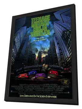 Teenage Mutant Ninja Turtles: The Movie - 11 x 17 Movie Poster - Style A - in Deluxe Wood Frame