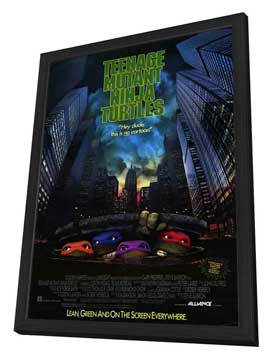 Teenage Mutant Ninja Turtles: The Movie - 27 x 40 Movie Poster - Style A - in Deluxe Wood Frame