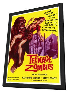 Teenage Zombies - 27 x 40 Movie Poster - Style A - in Deluxe Wood Frame
