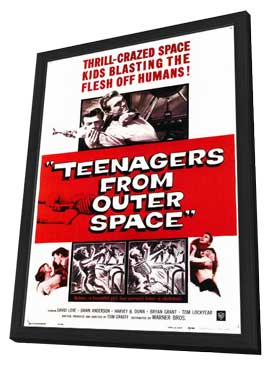 Teenagers from Outer Space - 11 x 17 Movie Poster - Style A - in Deluxe Wood Frame