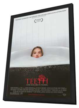 Teeth - 11 x 17 Movie Poster - Style A - in Deluxe Wood Frame