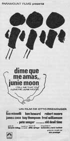 Tell Me That You Love Me, Junie Moon - 11 x 17 Movie Poster - Spanish Style A